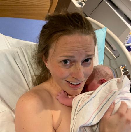 Natural birth photo